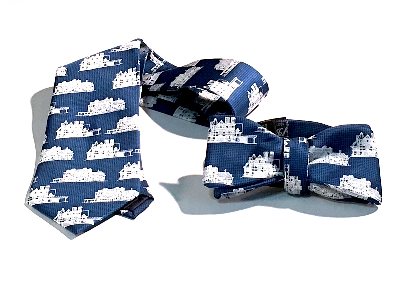 Mark twain house blueprint silk tie mark twain house apparel malvernweather Images